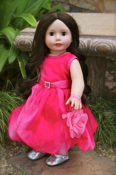 Harmony Club Doll, Melody Rose. Purchase Melody Rose and dresses for American Girl at www.harmonyclubdolls.com