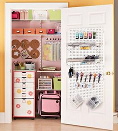 A Scrapbooking Storage Closet-if I only had an extra closet.