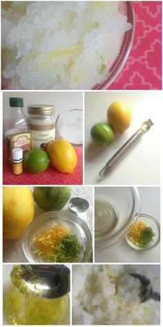 DIY Lemon Lime Sugar Body Scrub - Made with Essential Oils!
