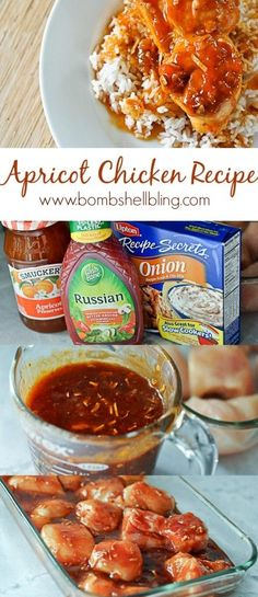 This Apricot Chicken recipes looks so tasty and CRAZY simple! YUM!
