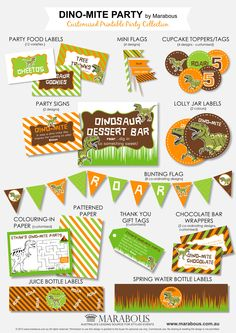 Dino-Mite Printable Party Collection