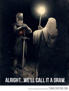 No one shall pass…