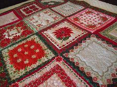 Christmas hanky quilt