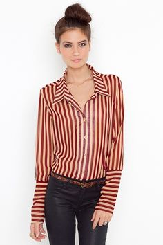 red and cream stripe blouse!