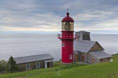 Point-a-la-Renommee Lighthouse, Gaspesie Penninsula, Quebec, Canada