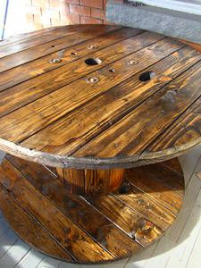 Industrial Spool Dining Table  $350