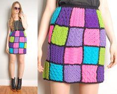 vintage 60s patchwork crochet granny square by huncamuncavintage, $42.00