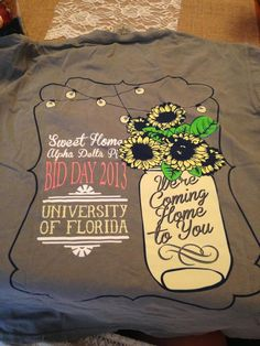 Sweet Home ADPi bid day t-shirts.