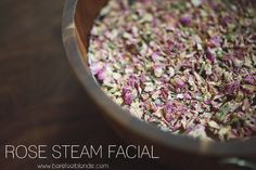 Rose steam facial for glowing skin