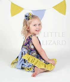 Ruffled Pinafore Sewing Pattern - Baby Girl Tutorial, PDF via Etsy