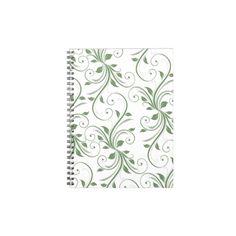 spiral note, vine spiral, green vine, note book
