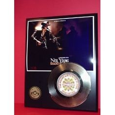 Neil Young 24kt Gold Record LTD Edition Display ***FREE PRIORITY SHIPPING***