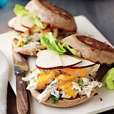 Chicken Salad Melts | CookingLight.com #myplate #vegetables #protein #dairy