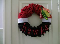 Hey, I found this really awesome Etsy listing at https://www.etsy.com/listing/165353469/chicago-blackhawks-wreath