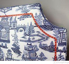 Fabric Headboard: Nanjing in Porcelain, 174431. http://www.fschumacher.com/search/ProductDetail.aspx?sku=174431 #Schumacher