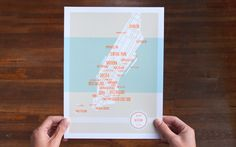 These Are Things print $24.00 #map #print #manhattan