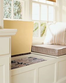 File Cabinet in Window Seat - Filing and Organizing