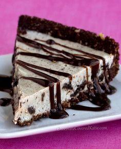 Healthy Oreo Chocolate Pie--use gf oreos or make your own