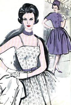1960s Dress Pattern and Jacket Advance 9693 Full by paneenjerez, $25.00