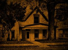 The Haunted Sallie House, Atchison, Kansas ~ The rather simple-looking painted brick house at 508 N. Second Street, built between 1867 & 1871, gives no indication from the street of its spooky reputation, but the many experiences of those who lived there, or have subsequently investigated the place testify as to its ghostly vibes -- mostly of the negative kind.
