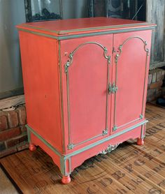 Vintage stereo cabinet repurposed as a bar or by BadRabbitVintage, $175.00