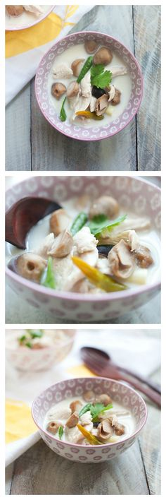 Thai Coconut and Chicken Soup - this soup is hearty and so yummy and SUPER easy to make. Make all your favorite Asian dishes at home with @rasamalaysia