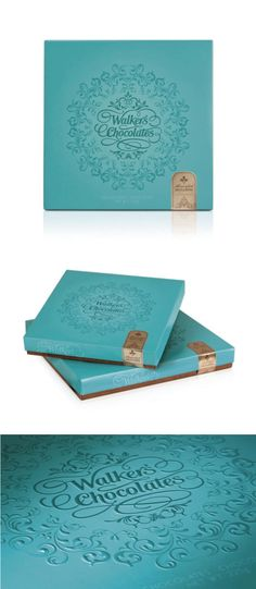 Walker's Chocolate #packaging #package--- the color! the script! Perfect no?