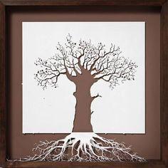 family trees, creativ paper, paper artwork, tree art, paper sculptures