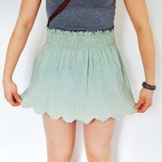 DIY Scalloped Skirt | Repurpose an old tee and make this cute skirt.