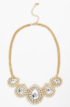Gorgeous sparkle bib necklace