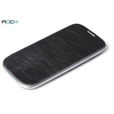 ROCK Elegant Side Flip case   Screen Protectro for GALAXY SIII S3 i9300 - Coffee US$16.25