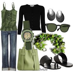 This just may be my fav outfit   There's Just Something About Green ~ Created by sadiesue.polyvore.com