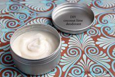 DIY coconut lime deodorant