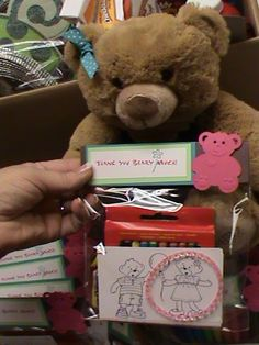 build a bear thank you's, good for party favors too.