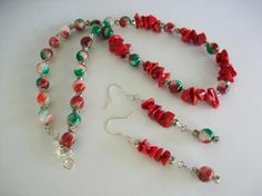 Christmas In July Necklace and Earrings Set and Photons
