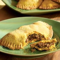 Jamaican Beef Patties - save a lot of time and work by using frozen pie crust. Been looking for something to do with turmeric, supposed to be good for memory, I think.....