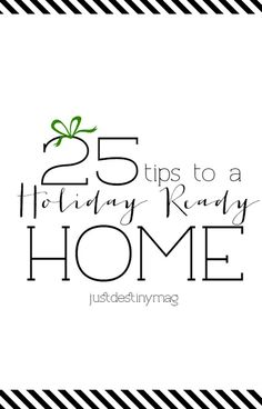 25 tips to a Holiday