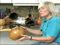 How to Make Gourd Art : How to Scorch a Gourd Bowl