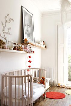natural crib Love this nursery!
