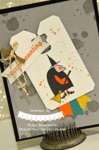 Super Freaky! Freaky Friends Witch! Using Blendabilities! Dawn Bourgette - Dawn's Creative Chalet http://www.dawnscreativechalet.stampinup.net #stampinup #freakyfriends #ghoulishgreetings #gorgeousgrunge #Motleymonsters #papercrafting #handstamped #color #witch #halloween #trickortreat #dawnscreativechalet #diy #crafts #2014holidaycatalog
