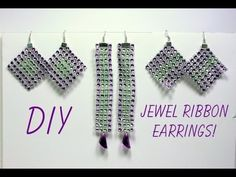 DIY Jewel Ribbon Earrings