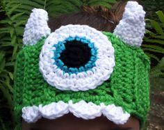 Crochet Monsters Inc. Inspired Head Warmer. Head Band. by BeadGs, $20.00