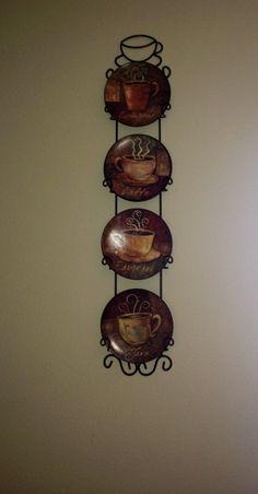 Coffee kitchen decor my little wall plates from Kirkland's.