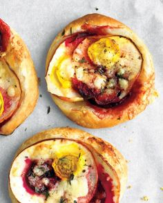 Beet, Cheddar, and Apple Tarts Recipe