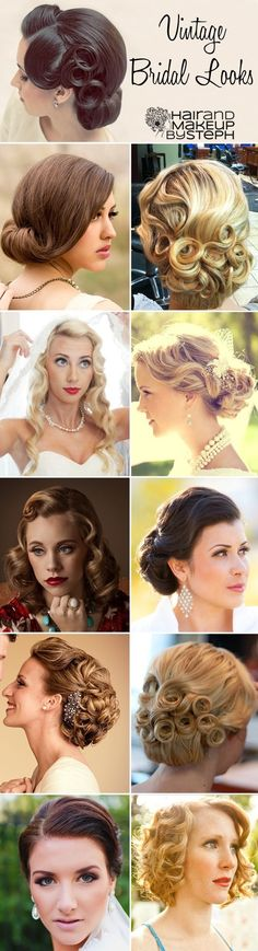 Vintage Inspired Wedding Hair Styles… @ Wedding Ideas