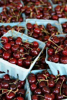 {Fresh cherries.}