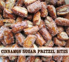 Craft, Bake, Sew, Create: Cinnamon Sugar Pretzel Bites