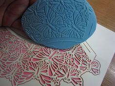 Things to do with a cupcake wrap (a brief series!) No. 1 Texture Stamp