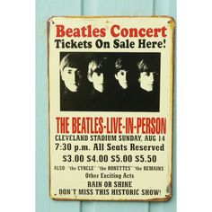 the beatles posters | The Beatles Tour Poster - Home at Sixteen