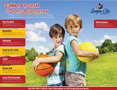 Summer Program Guide for League City Parks Recreation Sports